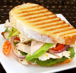 Cheesy Chicken Avocado Panini