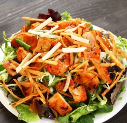 Chinese Chicken Salad with Red Chili Peanut Dressing