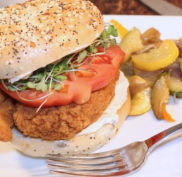 Chicken Tender Bagel Sandwich