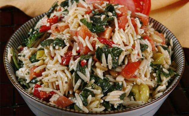 Tomato Basil and Rotisserie Chicken Orzo