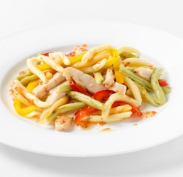 Japanese Chicken Salad with Pasta and Vegetables