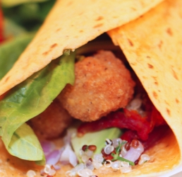 California Popcorn Chicken Wrap