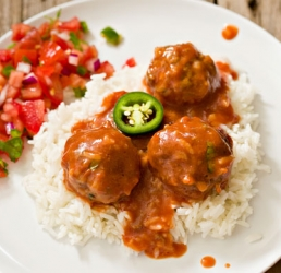 Spanish Rice and Meatballs
