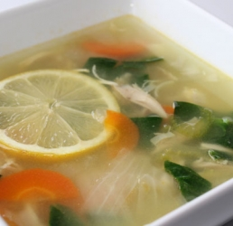 Lemon Chicken Farro Soup