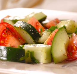 Fire and Ice Cucumber Salad
