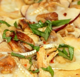 Apple, Brie, Walnut & Rotisserie Chicken Flatbread