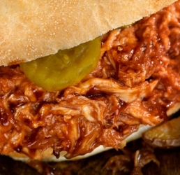 Spicy Pulled Chicken Sandwich
