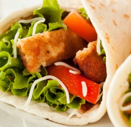 Creamy Parmesan Chicken Wrap