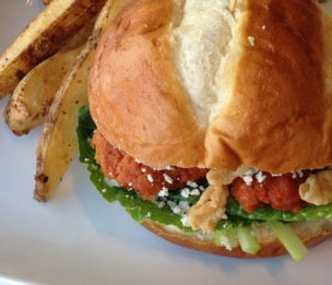 Buffalo Chicken Wing Burger