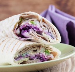 Greek Style Chicken Wraps