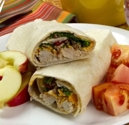 Rotisserie Chicken Wraps with Ranch Salsa