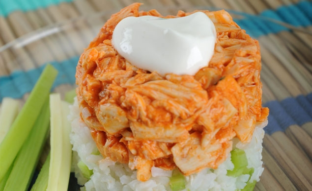 Buffalo Chicken Stacks