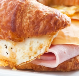 Honey Ham and Egg Croissants