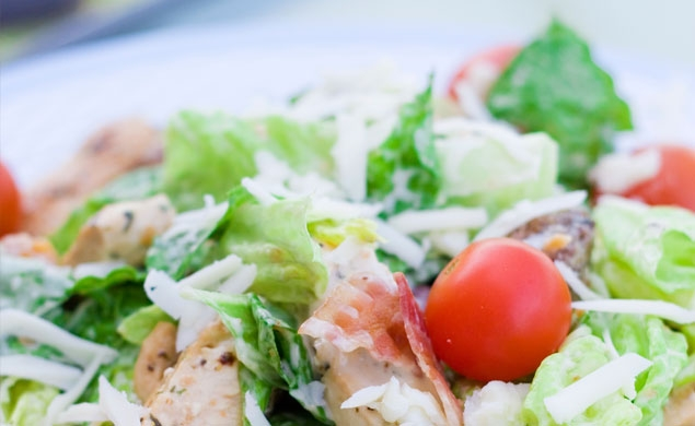 Chilled Caesar Salad with Rotisserie Chicken