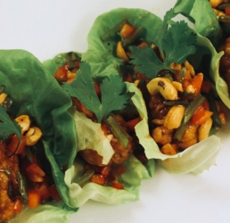 General Tso's Chicken Lettuce Cups