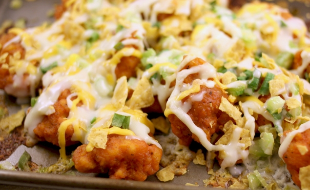 Boneless Buffalo Wing Nachos