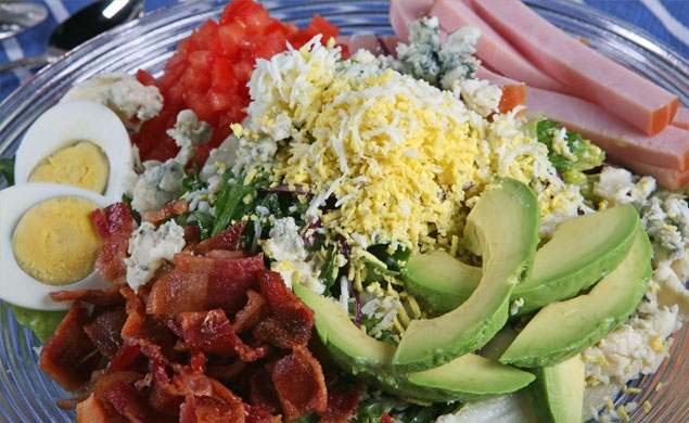 Shredded Chicken Cobb Salad