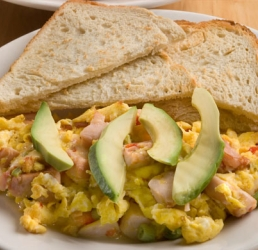 Cheesy Tangy Chicken Egg Scramble