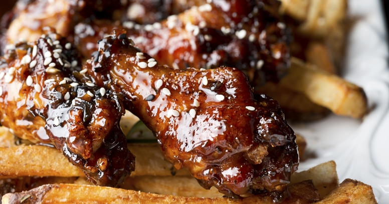 Golden Glazed Sticky Wings