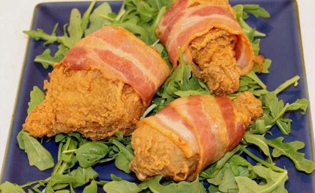 Bacon Wrapped Fried Chicken