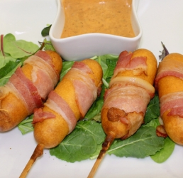 Bacon Wrapped Corn Dog