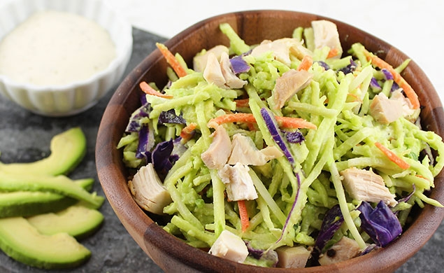 Creamy Avocado, Chicken & Broccoli Slaw