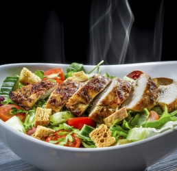 Grilled Chicken with a Rustic Caesar Salad