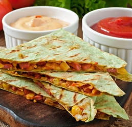 Rotisserie Chicken and Red Pepper Quesadilla