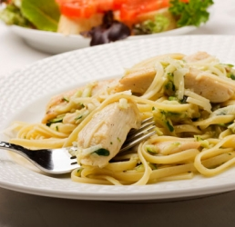 Chicken and Artichoke Linguini