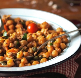 Curried Chicken Chickpea Supper Salad