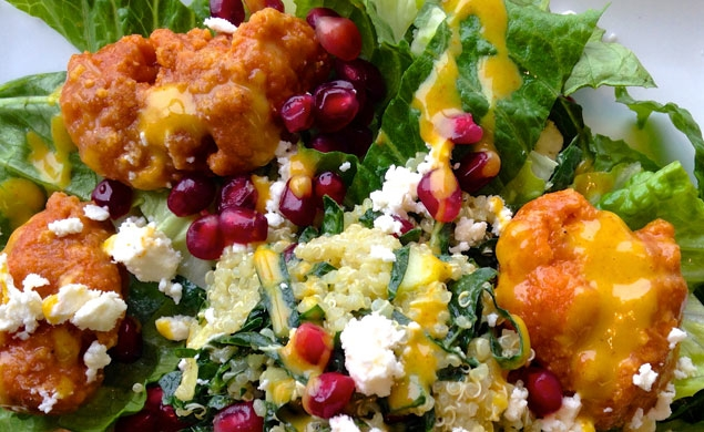 Chicken Wing and Quinoa Salad