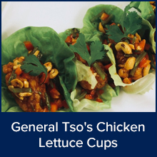 General Tsos Chicken Lettuce Cups