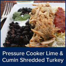 Pressure Cooker Lime and Cumin Shredded Turkey