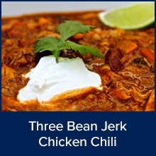 Three Bean Jerk Chicken Chili