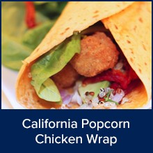 California Chicken Popcorn Wrap