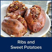 Ribs and Sweet Potatoes