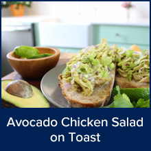 Avocado Chicken Salad on Toast